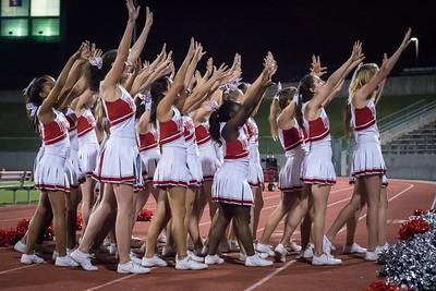 Cheerleaders - Varsity at Kimball Game-43
