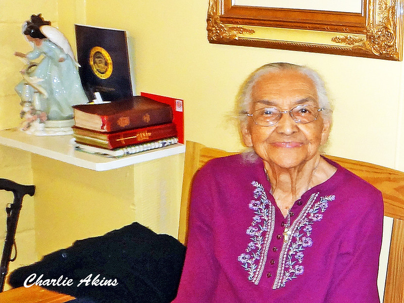 Mary Woodruff greeted us with her beautiful smile. She started the business many years ago and is 103 years old.