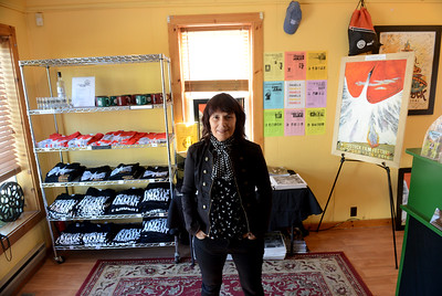 Tania Barricklo-Daily Freeman  Woodstock Film Festival Executive Director Meira Blaustein in the Box Office on Rock City Road in Woodstock.