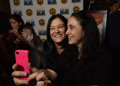 Barbara Kopple and Isil Bagdadi at the 2016 Woodstock Film Festival Launch Party at Libation NY, sponsored by Ketel One. Photos by www.johnmazlishphoto.com