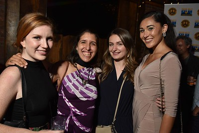 Director Catherine Kaczor (SERENDIPITY), Producer Nadine Lewis (LINER NOTES), Morgan Galecki and Kaela Garrett at the 2016 Woodstock Film Festival Launch Party at Libation NY, sponsored by Ketel One. Photos by www.johnmazlishphoto.com