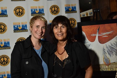 Director, Jen Heck (THE PROMISED BAND) and WFF Executive Director Meira Blaustein at 2016 Woodstock Film Festival Launch Party at Libation NY, sponsored by Ketel One. Photos by www.johnmazlishphoto.com