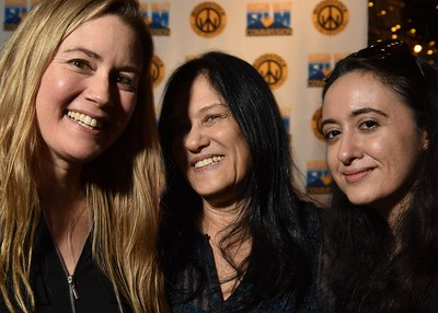 Producer Karin Hayes (MAGNIFICENT BURDEN), Barbara Kopple and Isil Bagdadi at the 2016 Woodstock Film Festival Launch Party at Libation NY, sponsored by Ketel One. Photos by www.johnmazlishphoto.com