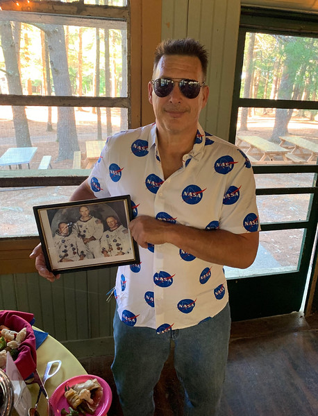 Jeff Mount of Westford, remembering the Apollo 11 moon landing, which  also happened 50 years ago this summer