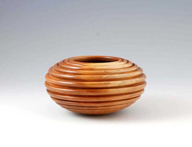 """Beaded Cherry hollow form<br /> 5-1/4"""" x 3"""""""