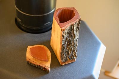 Oak box opened