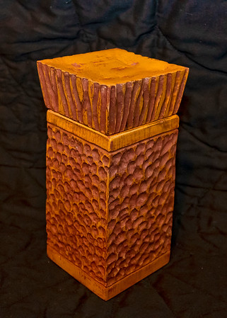 Carved 'castle' box