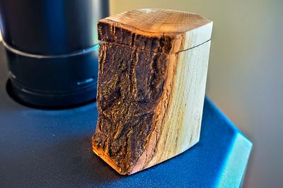 Oak firewood box