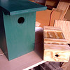 Birdhouse and small box with interlocking lid