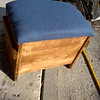 Finished Footstool with Compartments