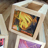 CD Crates with Custom Album Covers on Sides