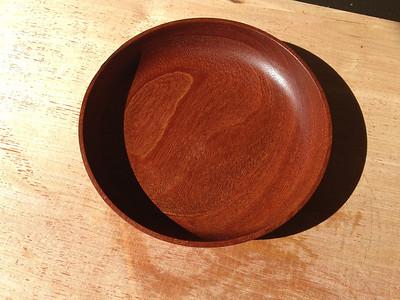 Mahogany bowl.