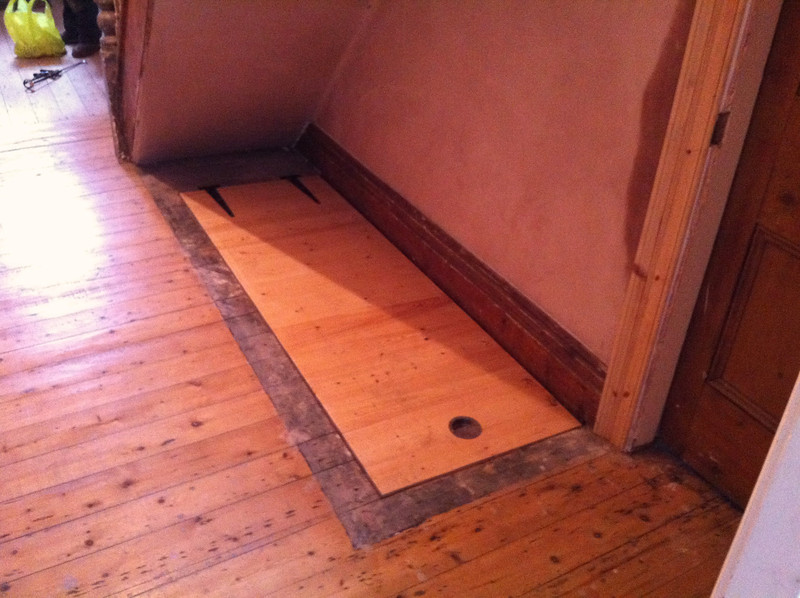 Cellar Hatch Door Closed.It Is Flush With The Existing Floor Level And Only  Requires