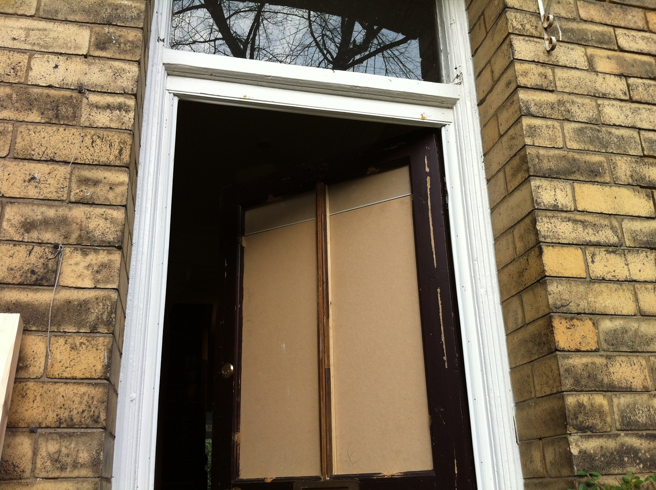 "Modified front door to a single vertical mullion. By  <a href=""http://www.harrisonwoodwork.com"">http://www.harrisonwoodwork.com</a>"