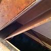 The gas strut that opens the cellar door has been installed.