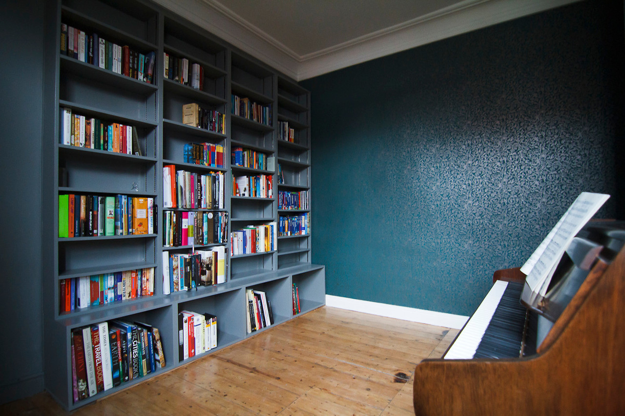 Custom bookcases.