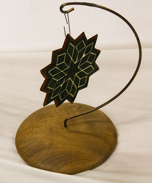 John Twedt - Holly & Mahogany Christmas Ornament