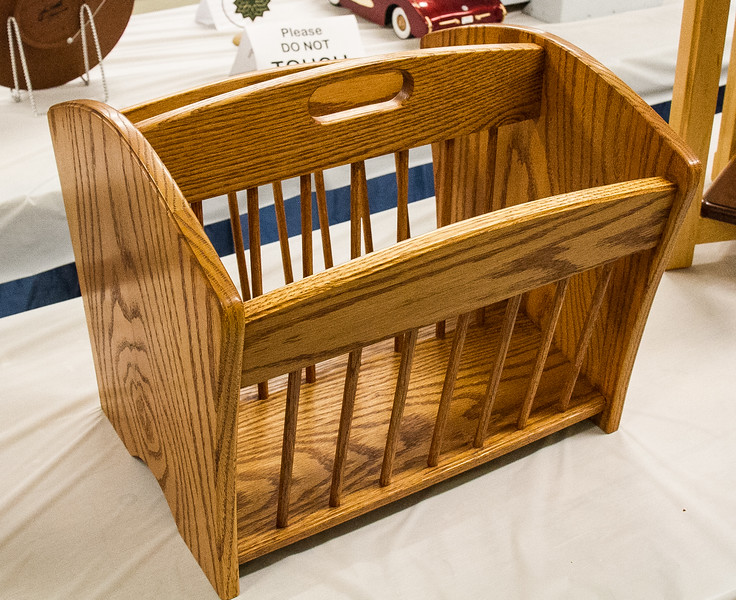 Leon Berkley - Red Oak Magazine Rack