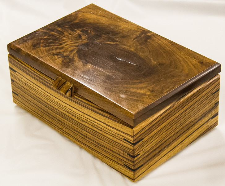 Dennis Craig - Walnut & Zebra Wood Box