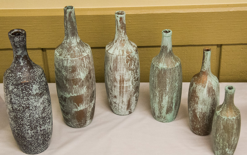 Dick Meuler - Set of Bottles from White Wood