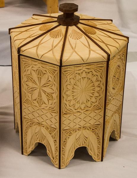 John Twedt - Urn - Chip Carved Basswood and Bloodwood
