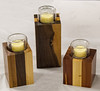 Randy Offenburger - Set of 3 Candle Holders - Walnut, Pine, Cedar