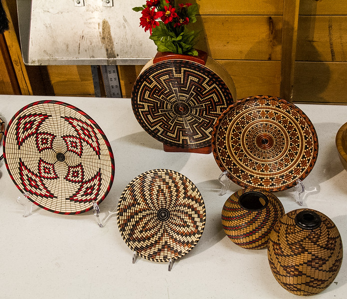 Dave Rabe - Turned Basket Illusion Plates and Vases