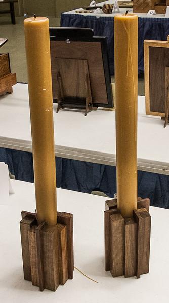 Chuck Haas - Walnut Candle Holders