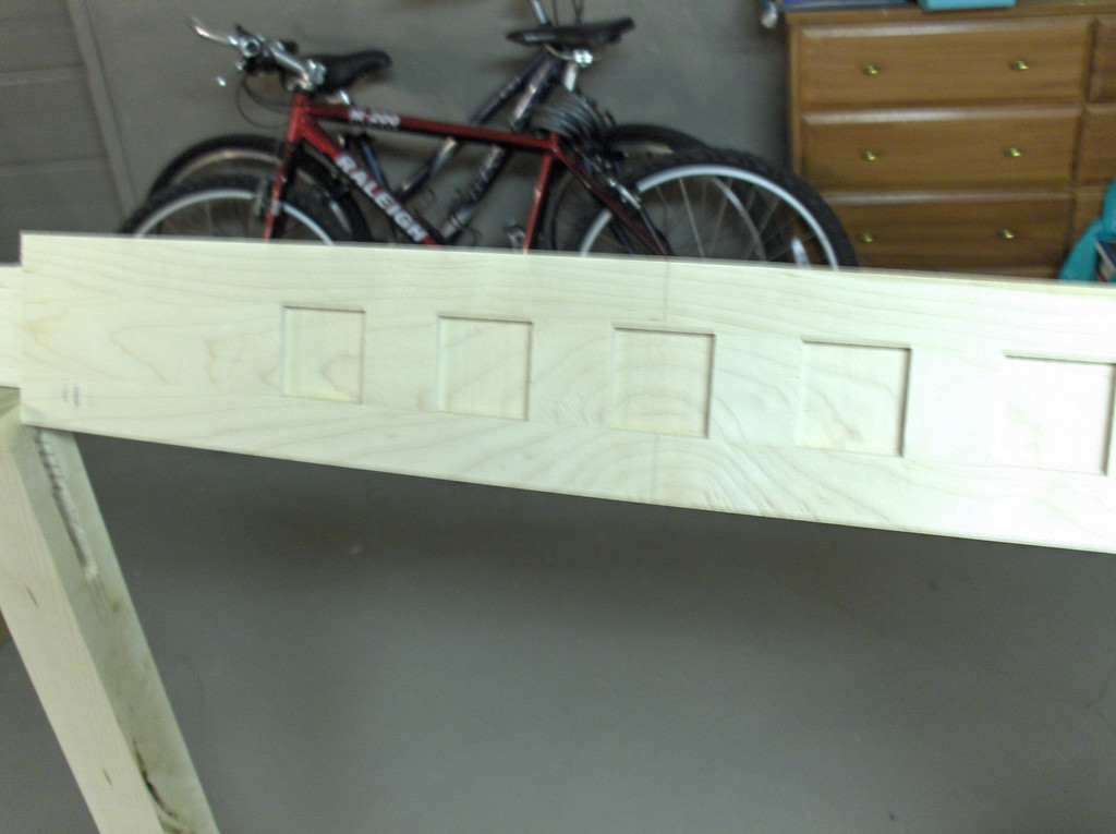 Woodworking project by Joshua Swenson.  Maple and cherry baby crib I made when expecting my first child. Plan from Rockler.