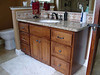 "Alder Vanity stained dark ""his"""
