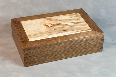 Fumed oak, spalted birch
