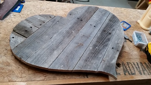 Cedar and Pallet wood Hearts