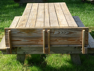 Child seat for picnic table