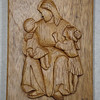 Christ with Children <br /> Elmwood Intarsia by Jack Labor<br /> <br /> $75