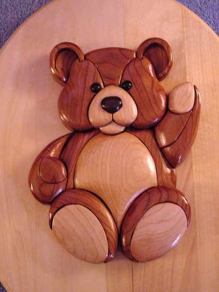 Teddy Bear   (Cherry,Maple & Walnut)