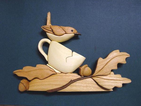 Wren on a Tea Cup  2002<br /> <br /> $35