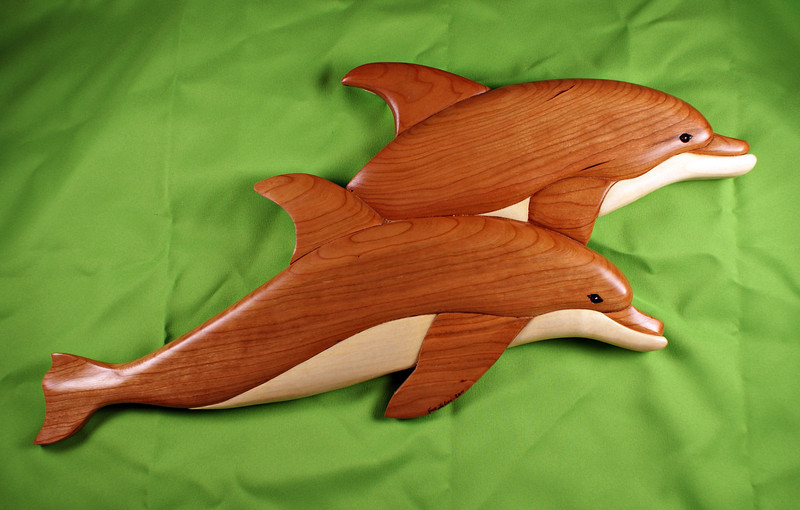Twin Dolphins (Cherry & Aspen)<br /> <br /> $150