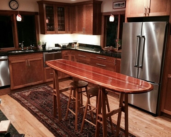 "8'3"" Santa Cruz bar table top most popular"