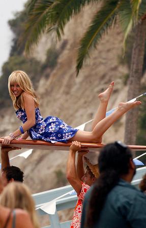 Miley Cyrus On the Set of 'Hannah Montana'