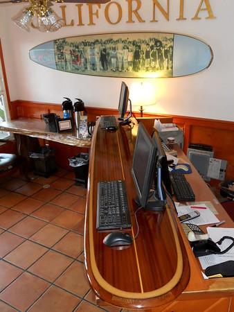 """8'3"""" Santa Cruz bar table"""