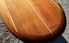 custom 10' Big Sur bar Table Clear Redwood surfboard