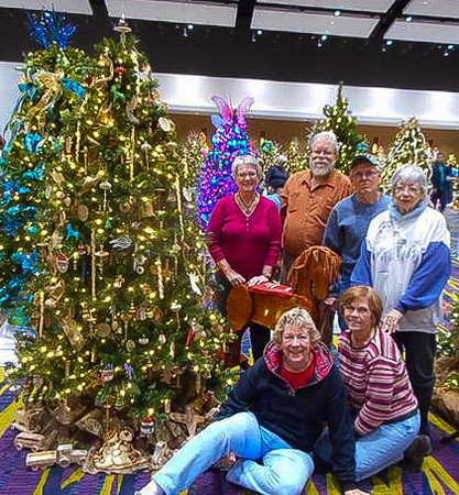 Decoration crew – (top row from left) Priscilla England, Bob Wheeler, Ralph Lane, Ginny Wheeler - (bottom row from left) Marlene Anderson Beattie and Karen Lane – (not shown) Kay Henderson and Rob Beattie.