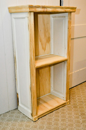 Custom Bookcase Made From Old Doors Ready For Paint
