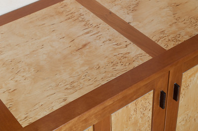 Sideboard detail of top