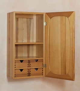 Cabinet in pine, maple, laburnum, apple sycamor