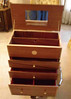 Herb Rosen built this jewelery case with Maple inlays and various drawer dividers