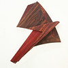 Abstract with bloodwood and kingwood