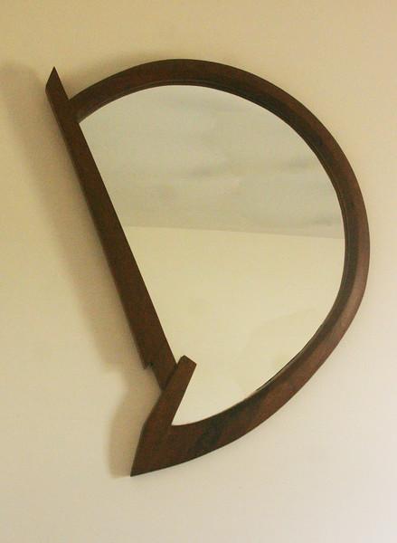 Walnut wood mirror