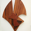 Abstract Rosewood Sculpture