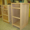 File cabinet (right) / South wall, drawer base (left)